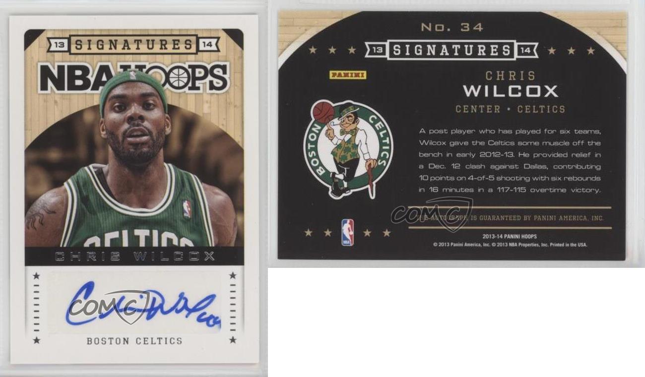 2013-14-NBA-Hoops-Signatures-34-Chris-Wilcox-Boston-Celtics-Auto-Basketball-Card