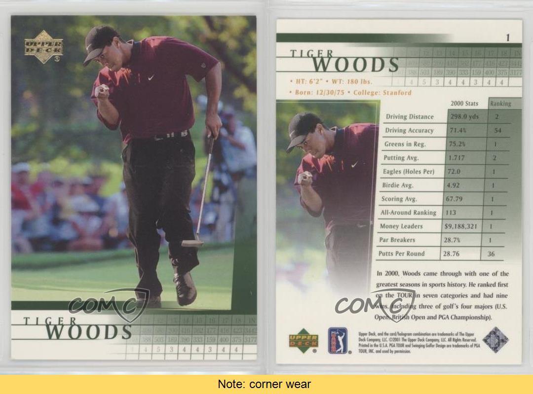2001-Upper-Deck-1-Tiger-Woods-RC-Rookie-Golf-Card