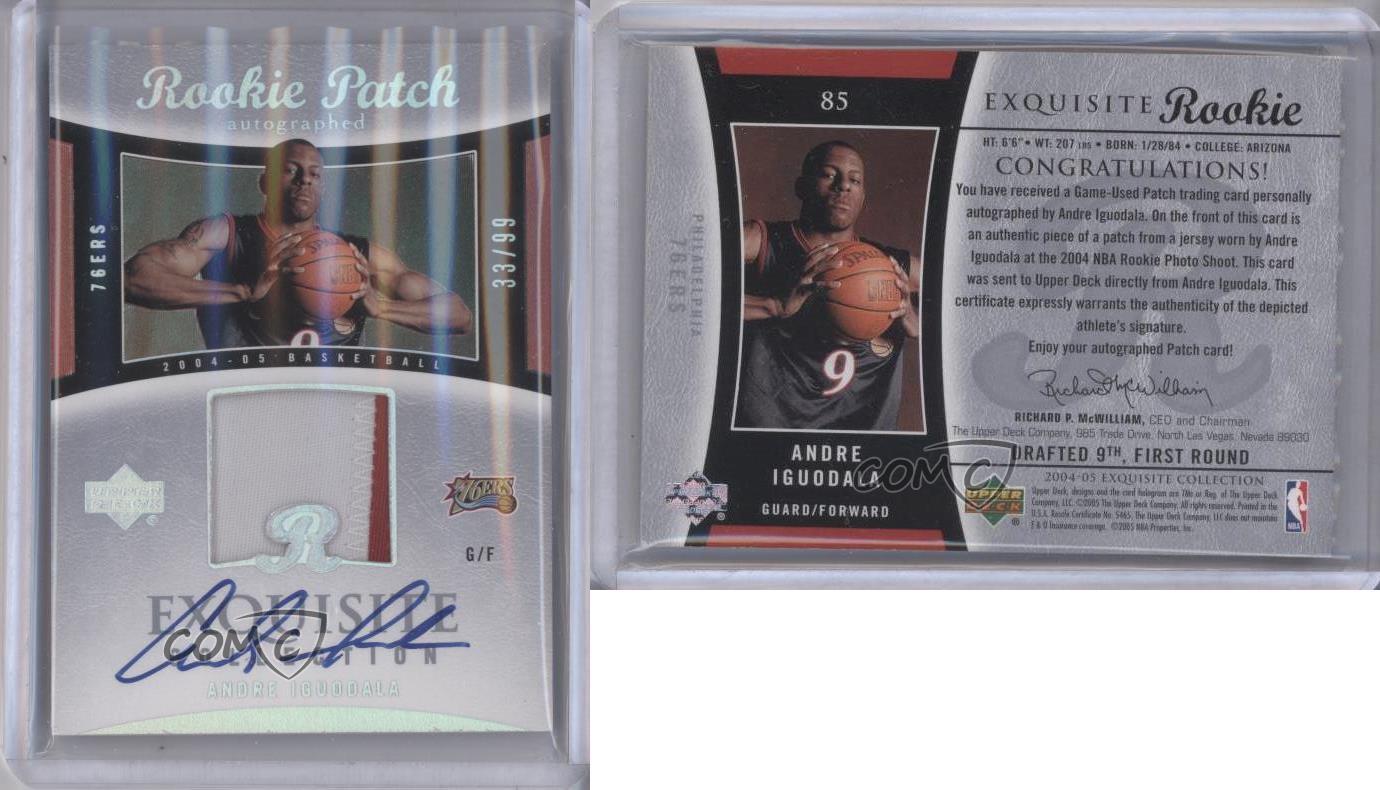 2004-Upper-Deck-Exquisite-Collection-85-Andre-Iguodala-Philadelphia-76ers-Auto