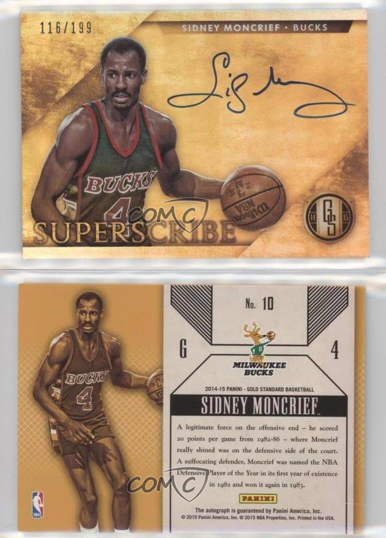 2014 15 Panini Gold Standard Superscribe 10 Sidney Moncrief