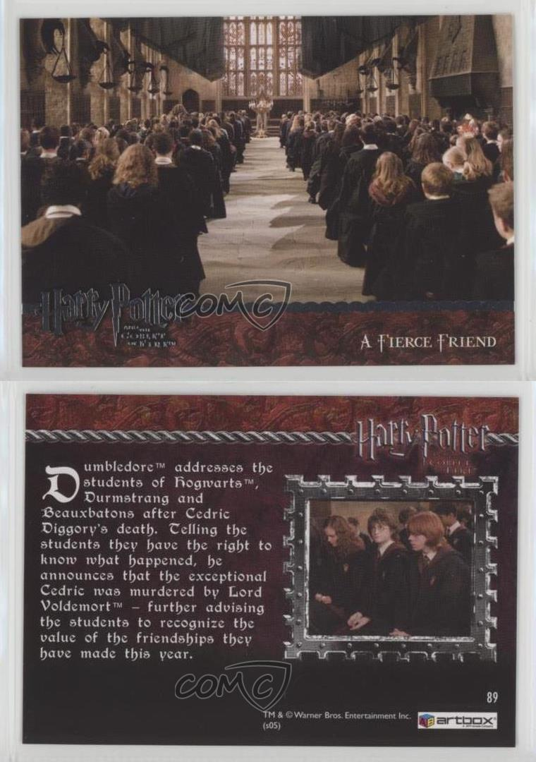 2005 Artbox Harry Potter And The Goblet Of Fire A Fierce Friend 89 D4e Ebay The only content we will consider removing is spam, slanderous attacks on other members, or extremely offensive content (eg. ebay