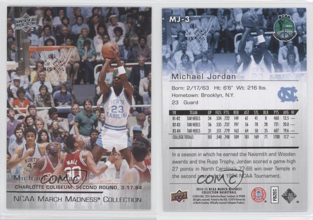 2014 15 upper deck ncaa march madness collection mj 3 michael 2014 15 upper deck ncaa march madness collection reheart Choice Image