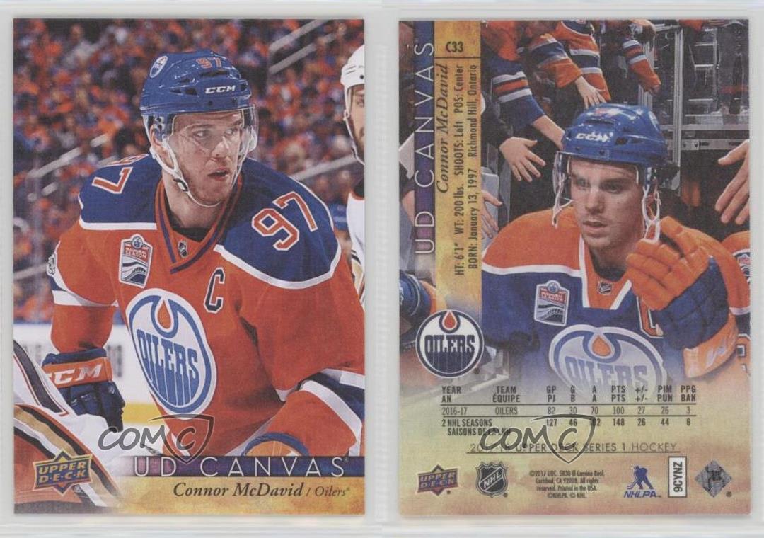 2017-18-Upper-Deck-UD-Canvas-C33-Connor-McDavid-Edmonton-Oilers-Hockey-Card