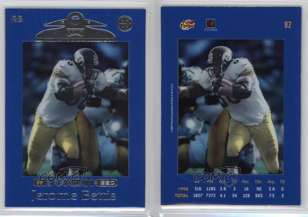 1999-Playoff-Absolute-SSD-82-Jerome-Bettis-Pittsburgh-Steelers-Football-Card