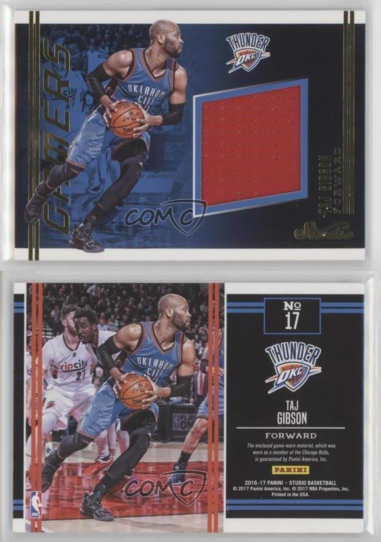 2016-17-Panini-Studio-Gamers-17-Taj-Gibson-Oklahoma-City-Thunder-Basketball-Card