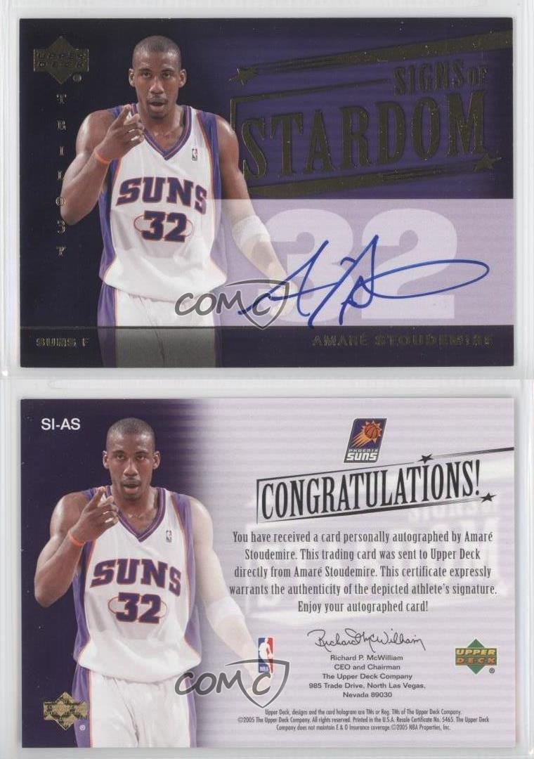 2004-Upper-Deck-Trilogy-Signs-of-Stardom-SI-AS-Amar-039-e-Stoudemire-Amare-Auto-Card