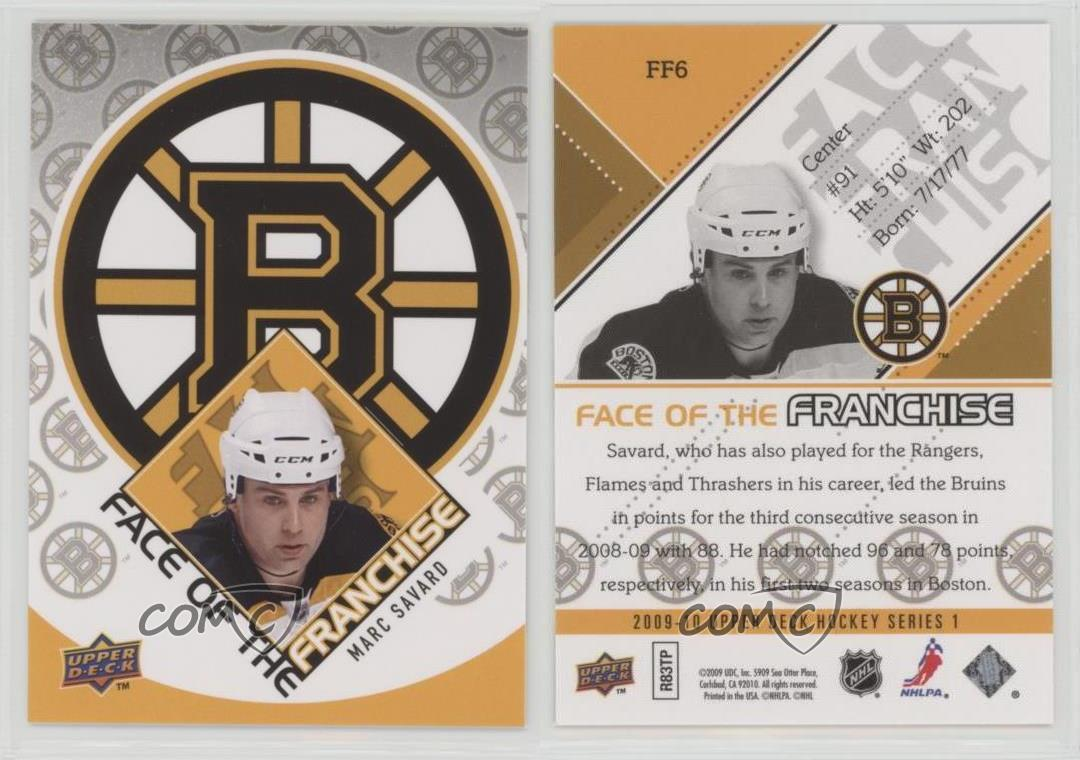 2009-Upper-Deck-Face-of-the-Franchise-FF6-Marc-Savard-Boston-Bruins-Hockey-Card