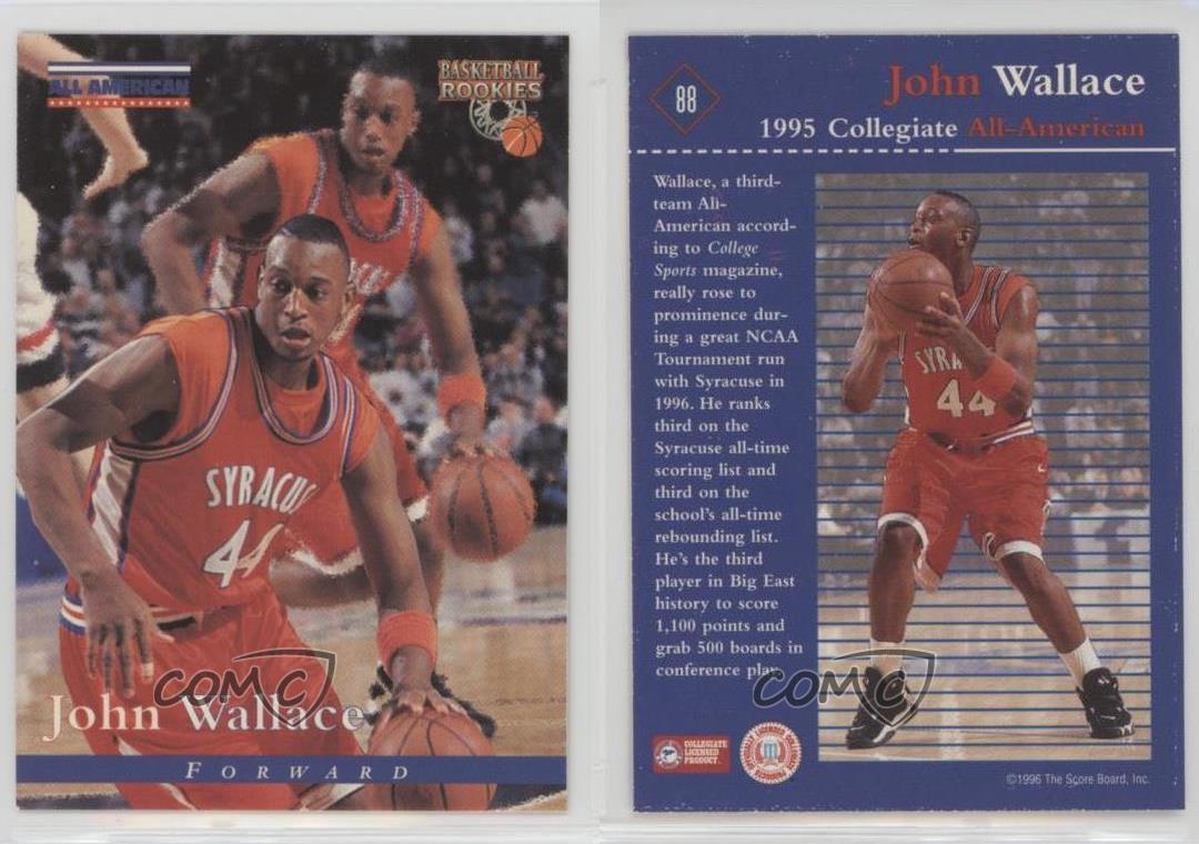 Details About 1996 Score Board Basketball Rookies 88 John Wallace Syracuse Orangemen Rookie