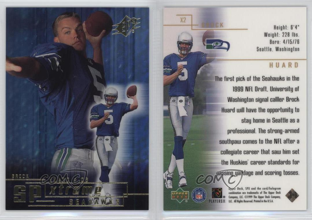 1999-SPx-SPXtreme-X2-Brock-Huard-Seattle-Seahawks-Rookie-Football-Card