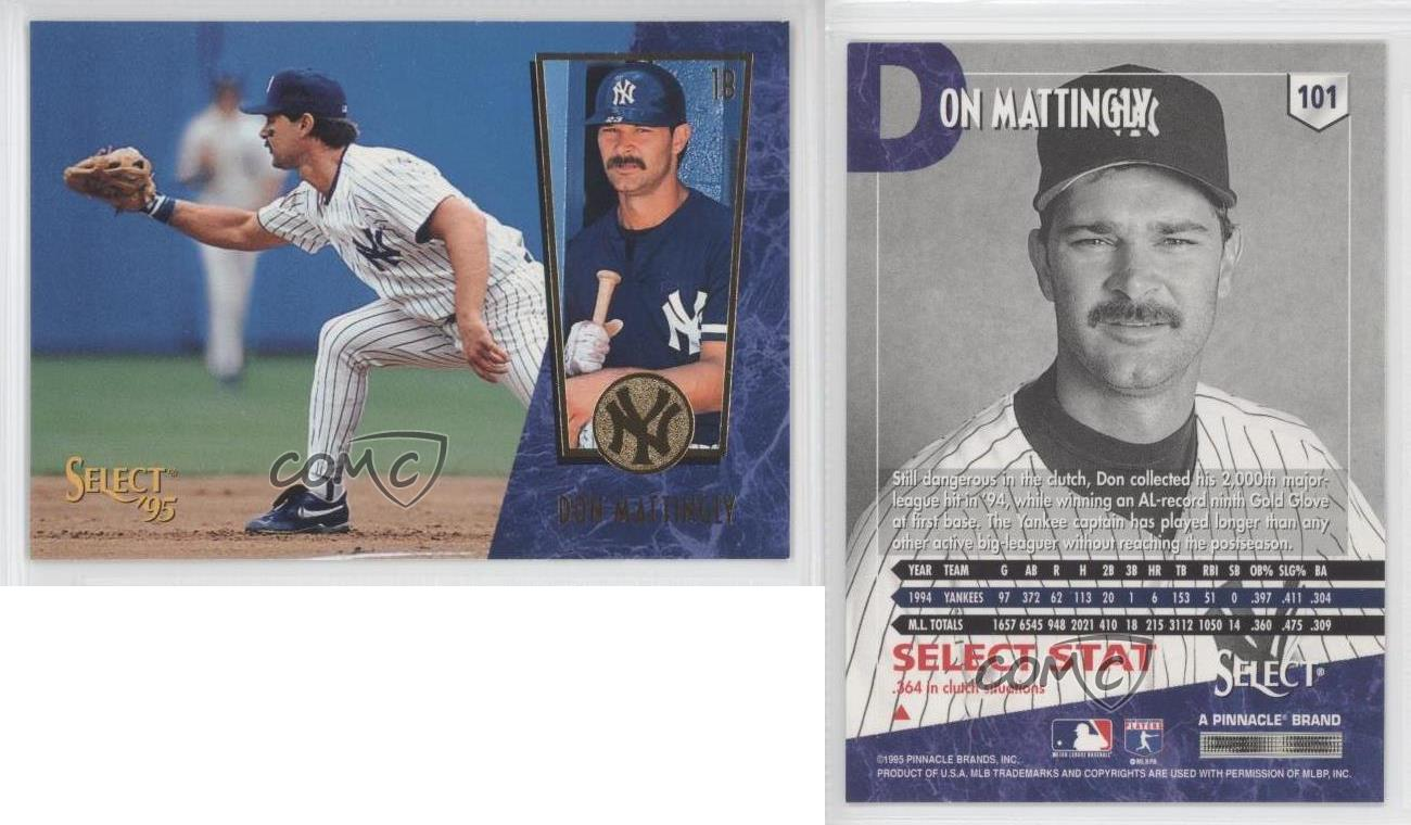1995 Select 101 Don Mattingly New York Yankees Baseball