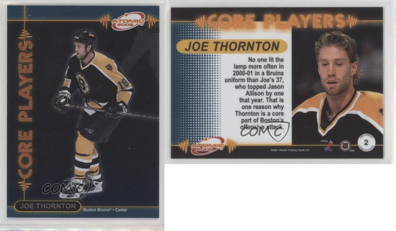 2001-02-Pacific-Atomic-Core-Players-2-Joe-Thornton-Boston-Bruins-Hockey-Card