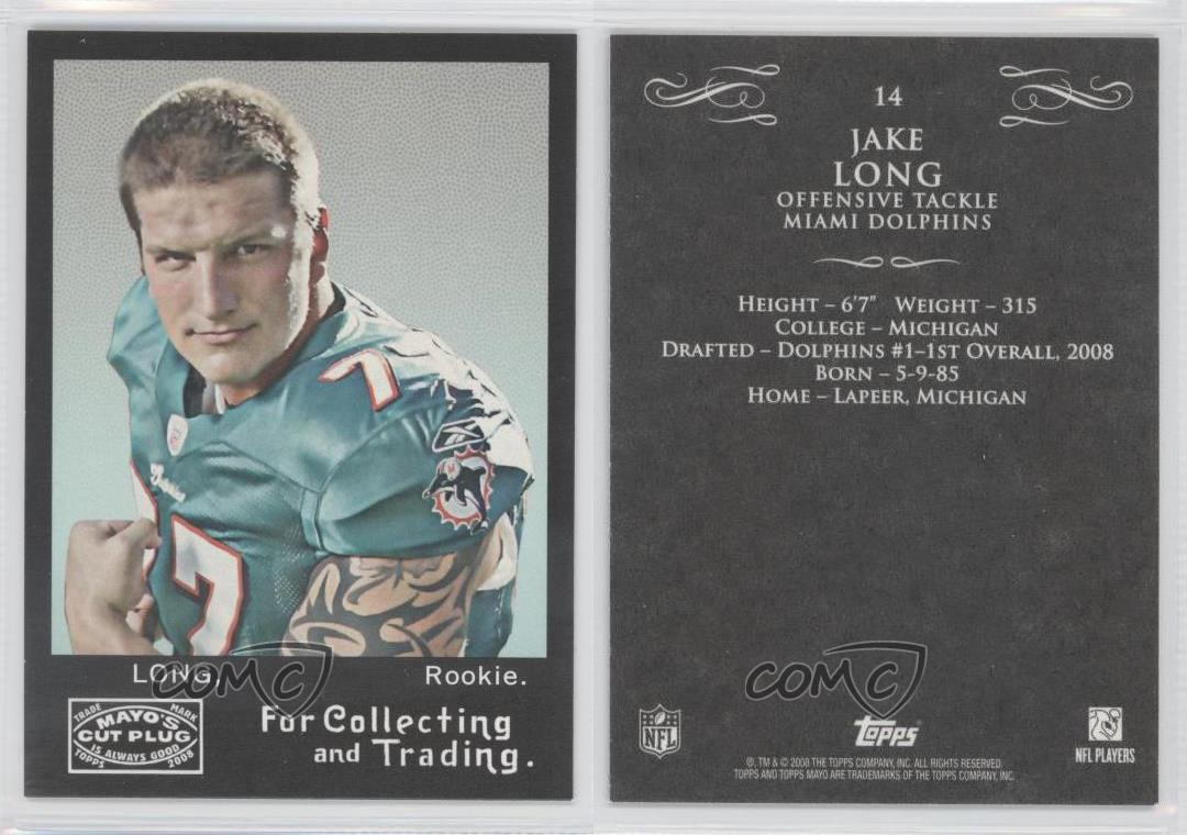 2008-Topps-Mayo-14-Jake-Long-Miami-Dolphins-Rookie-Football-Card