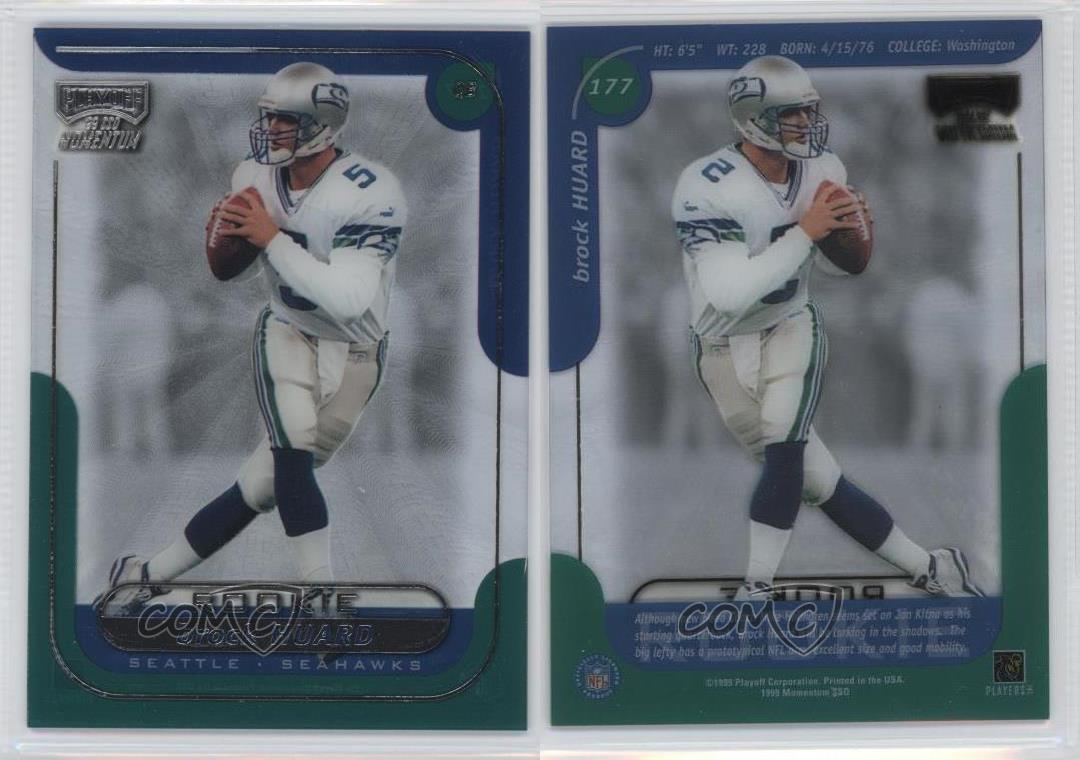 1999-Playoff-Momentum-SSD-177-Brock-Huard-Seattle-Seahawks-RC-Football-Card