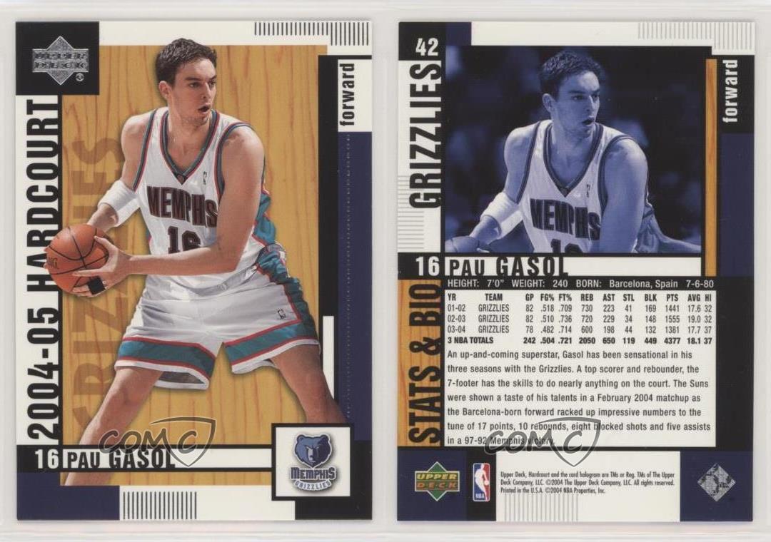 2003-04 SPx Winning Materials #WM31 Pau Gasol Memphis Grizzlies Basketball Card