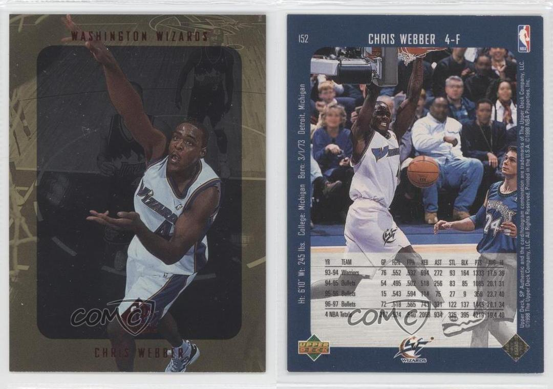 1997-98-SP-Authentic-152-Chris-Webber-Washington-Wizards-Basketball-Card