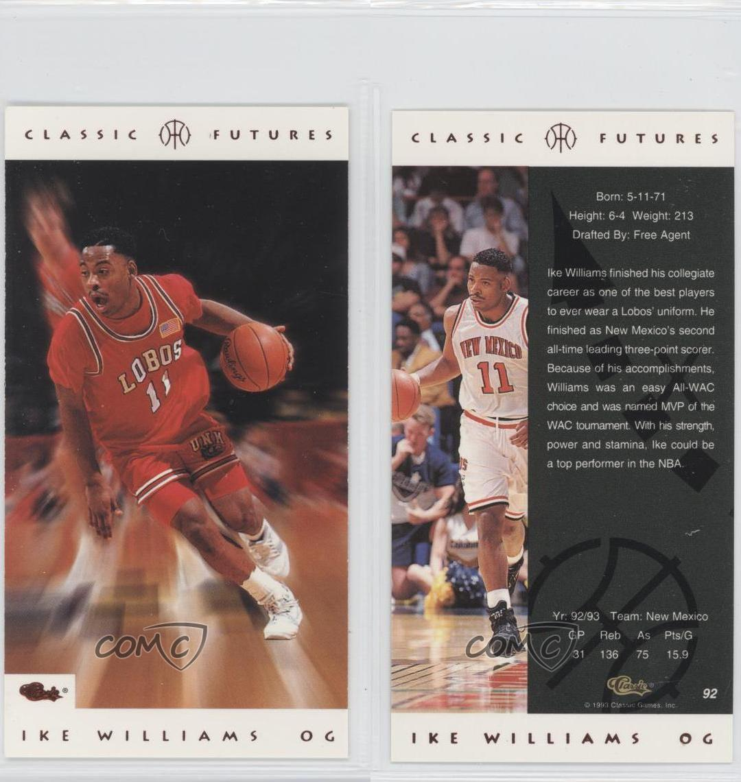 1993-94 Classic Futures #92 Ike Williams New Mexico Lobos