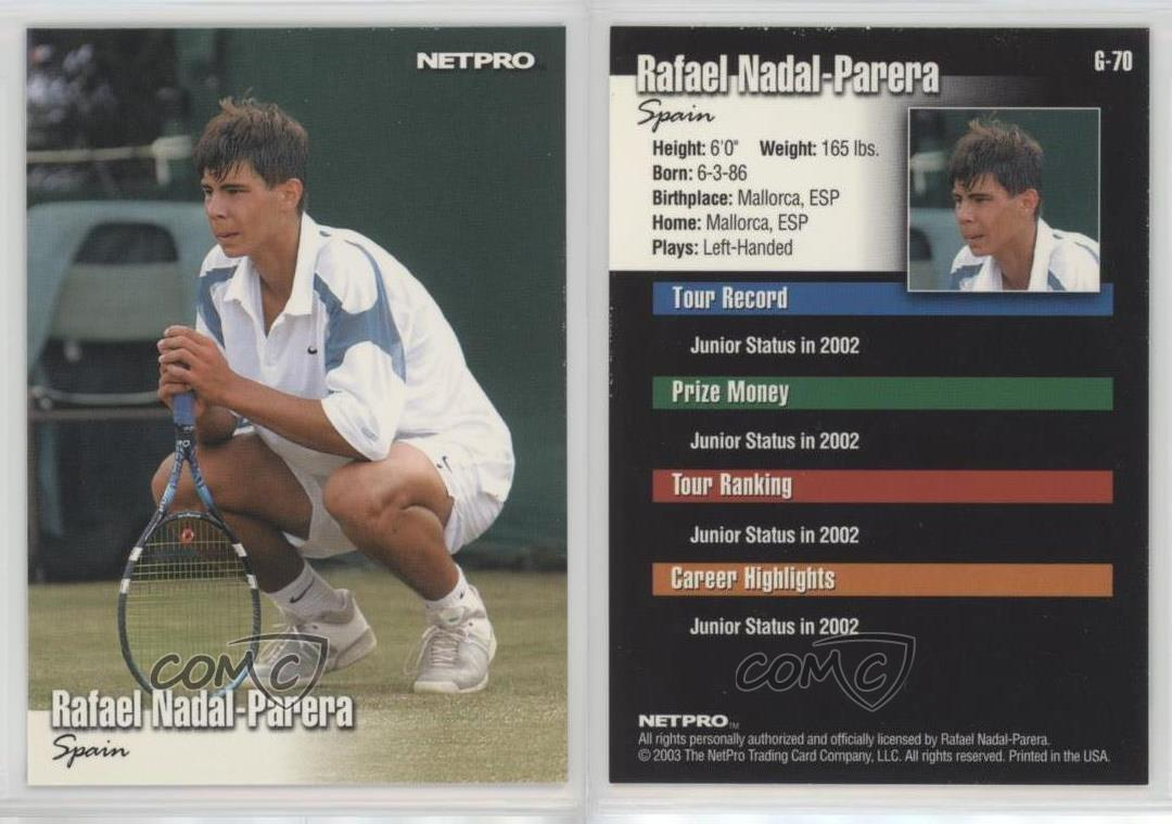 2003 Netpro Glossy Rafael Nadal G 70 Ebay