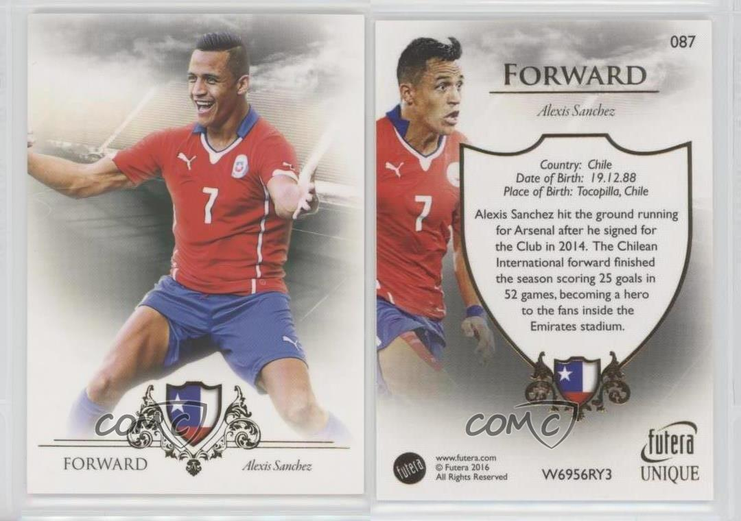 2016-Futera-Unique-087-Alexis-Sanchez-Chile-Rookie-Soccer-Card
