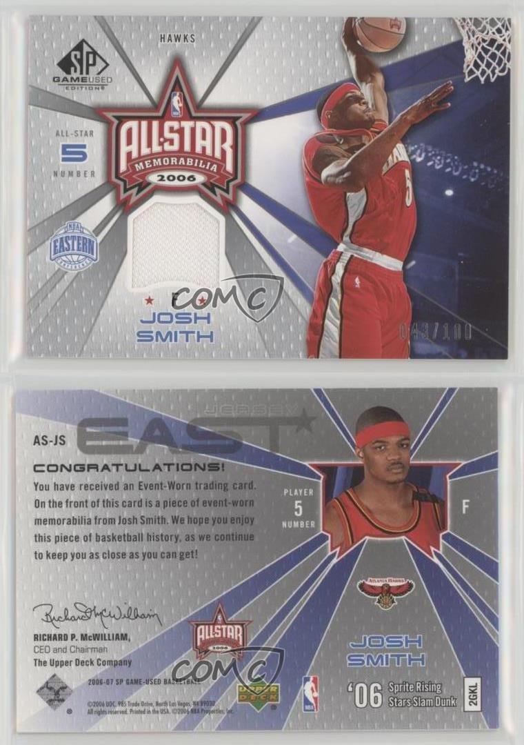 2006-07-SP-Game-Used-Edition-All-Star-Memorabilia-AS-JS-Josh-Smith-Atlanta-Hawks