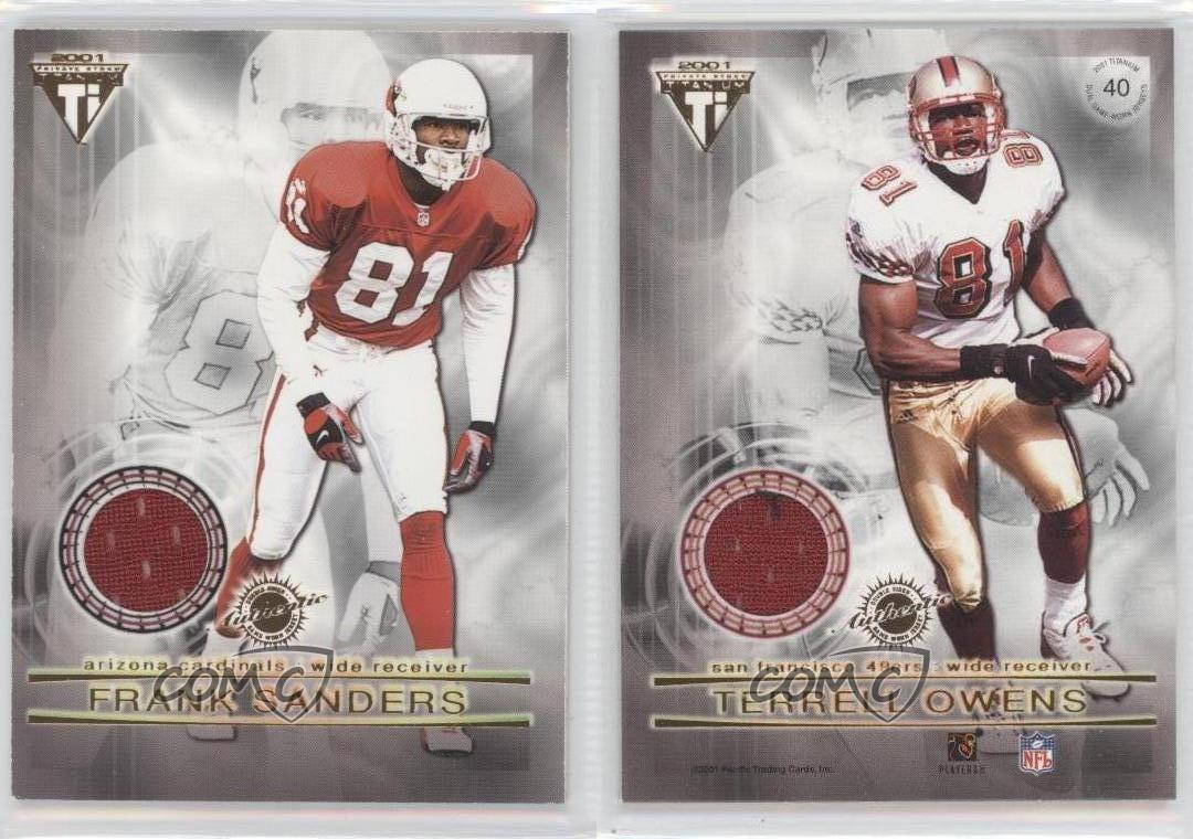 2001-Pacific-Private-Stock-Titanium-40-Frank-Sanders-Terrell-Owens-Football-Card