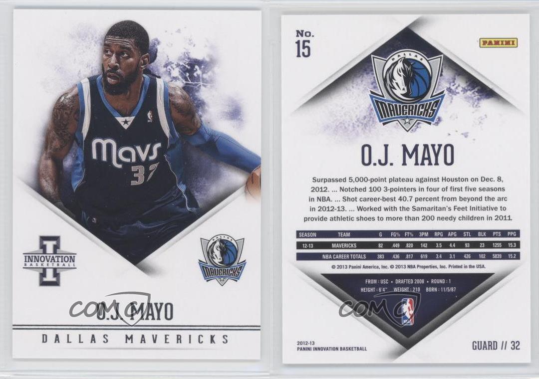 2012-13-Panini-Innovation-15-OJ-Mayo-Dallas-Mavericks-O-J-Basketball-Card