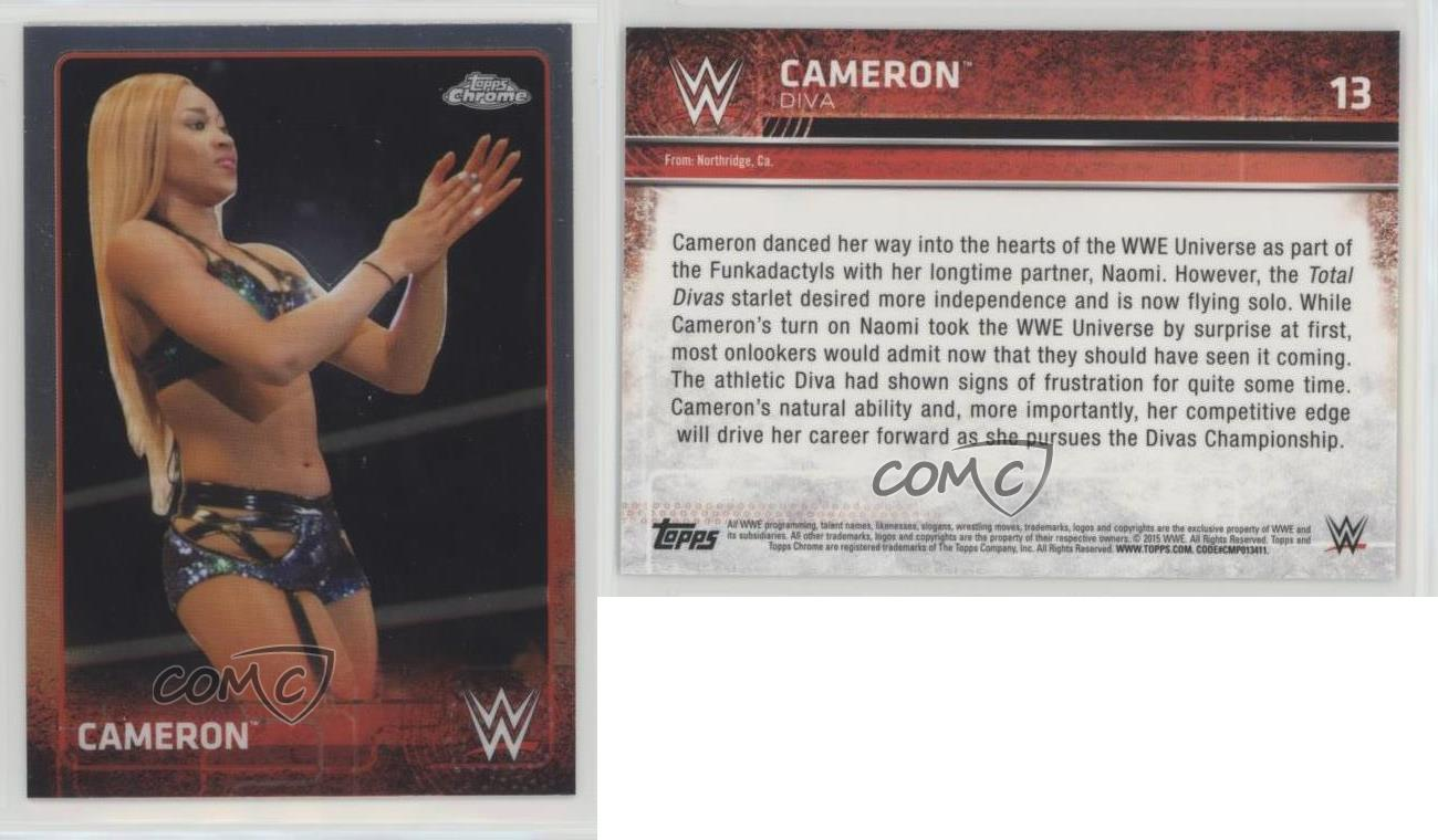 2015-Topps-Chrome-WWE-13-Cameron-Wrestling-Card