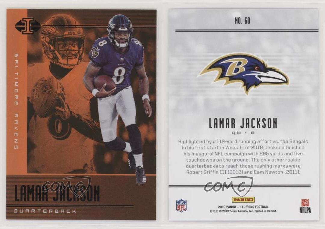 2019 Panini Illusions #60 Lamar Jackson Baltimore Ravens Football Card