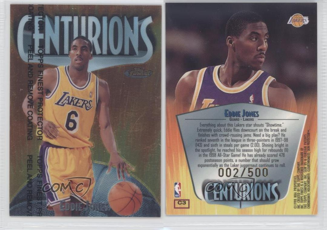 1998-Topps-Finest-Centurions-C3-Eddie-Jones-Los-Angeles-Lakers-Basketball-Card