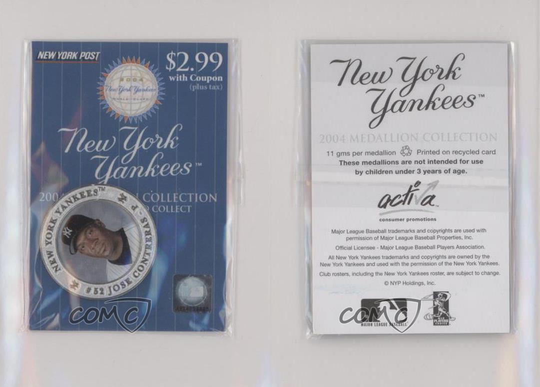 2004 New York Yankees #52 Jose Contreras Medallion