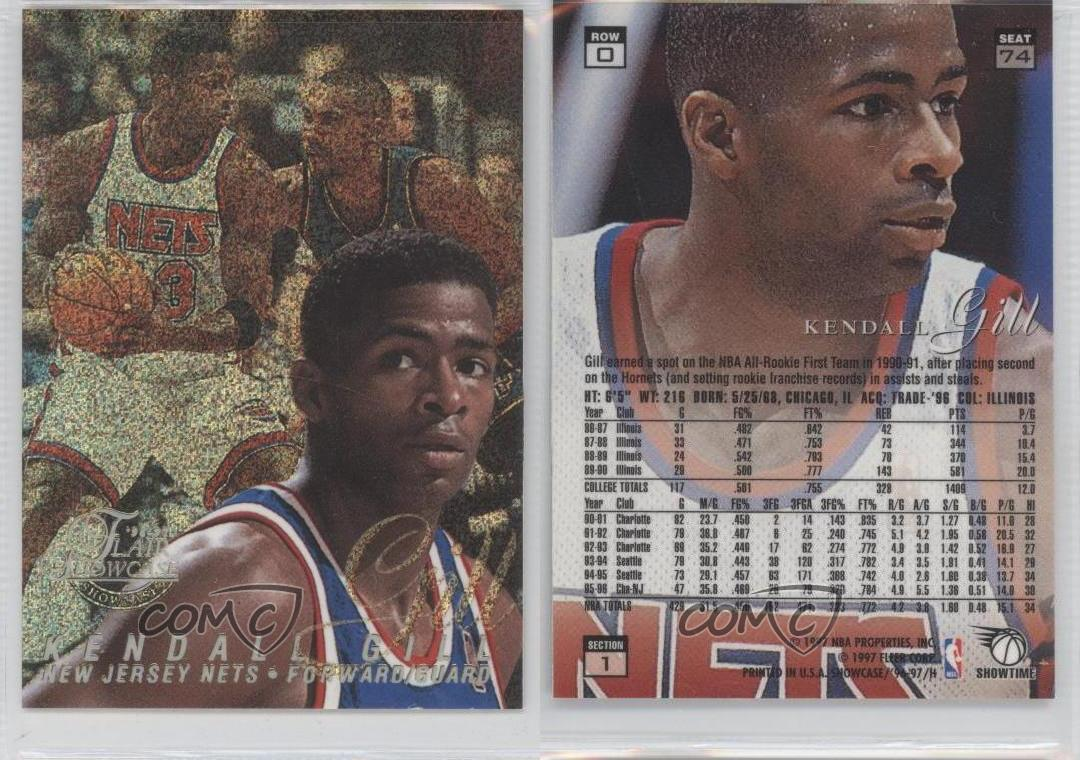 1996 97 Flair Showcase Row 0 74 Kendall Gill New Jersey Nets