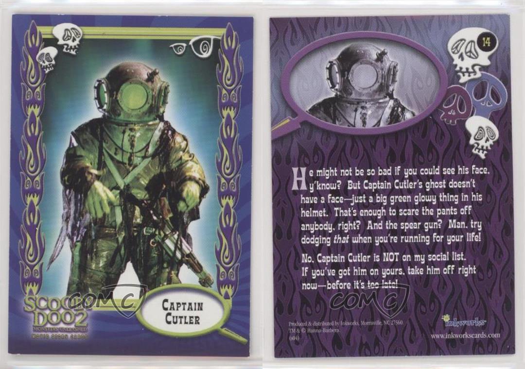 2004 Inkworks Scooby Doo 2 Monsters Unleashed Captain Cutler 14 B6s Ebay