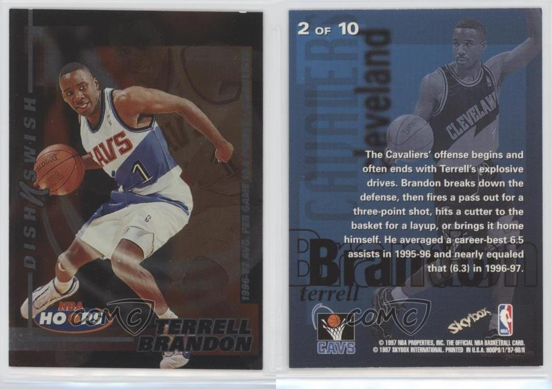 1997 98 NBA Hoops Dish N Swish 2 Terrell Brandon Cleveland