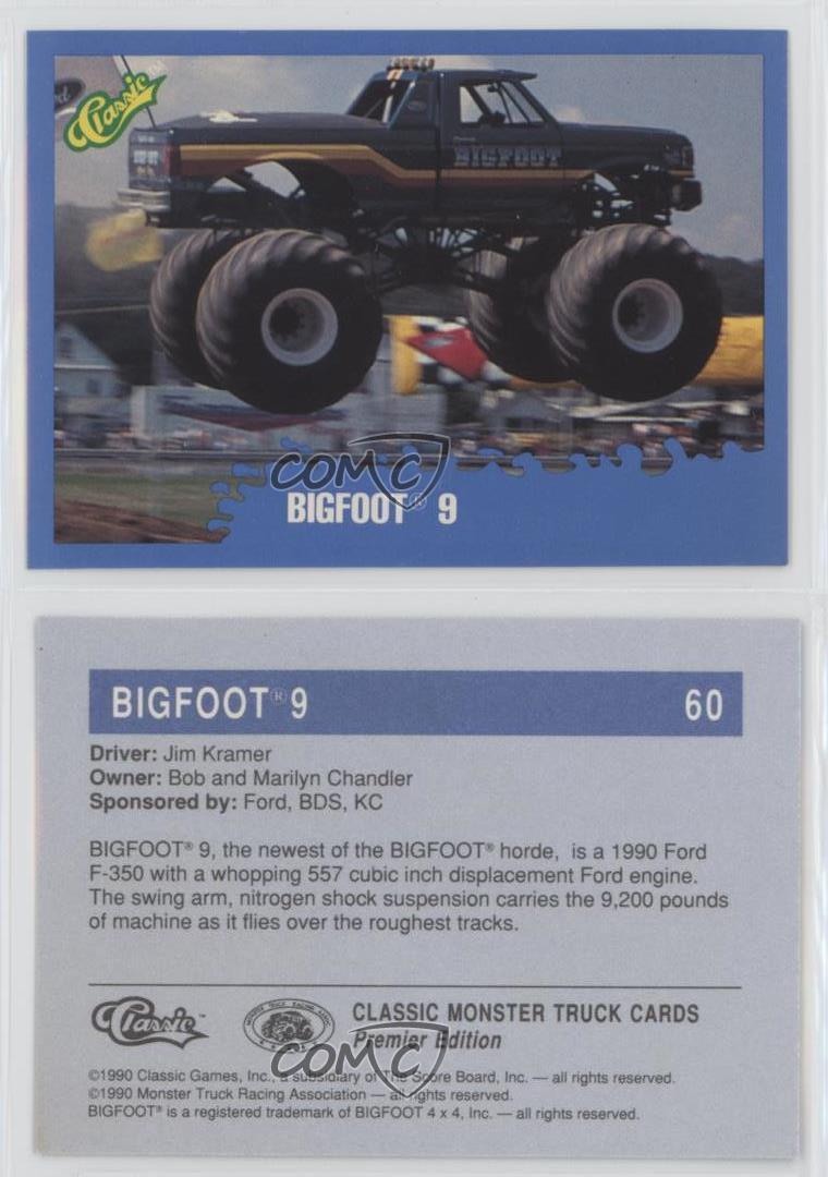 1990 Classic Monster Trucks Bigfoot 9 60 Ebay