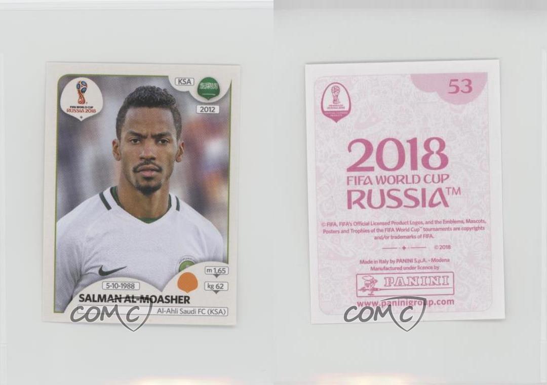 "KSA FIFA World Cup Russia 2018 Image Sticker PANINI #51 /""Salman AL-FARAJ/"""