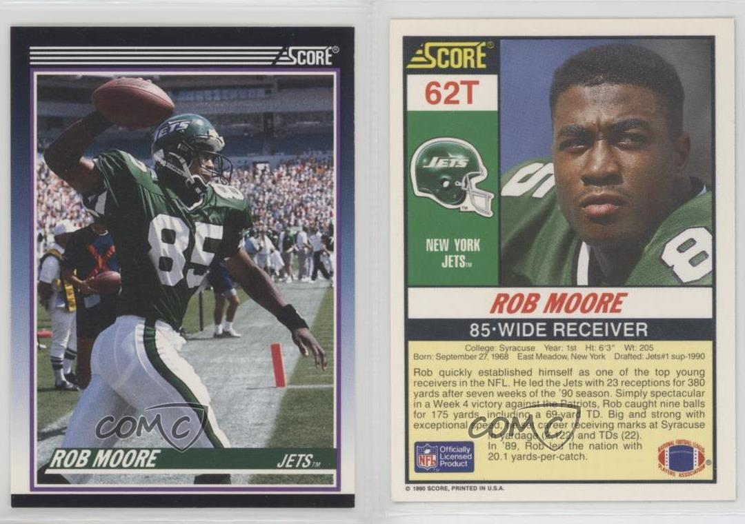 1990-Score-Rookie-amp-Traded-Supplemental-62T-Rob-Moore-New-York-Jets-Card