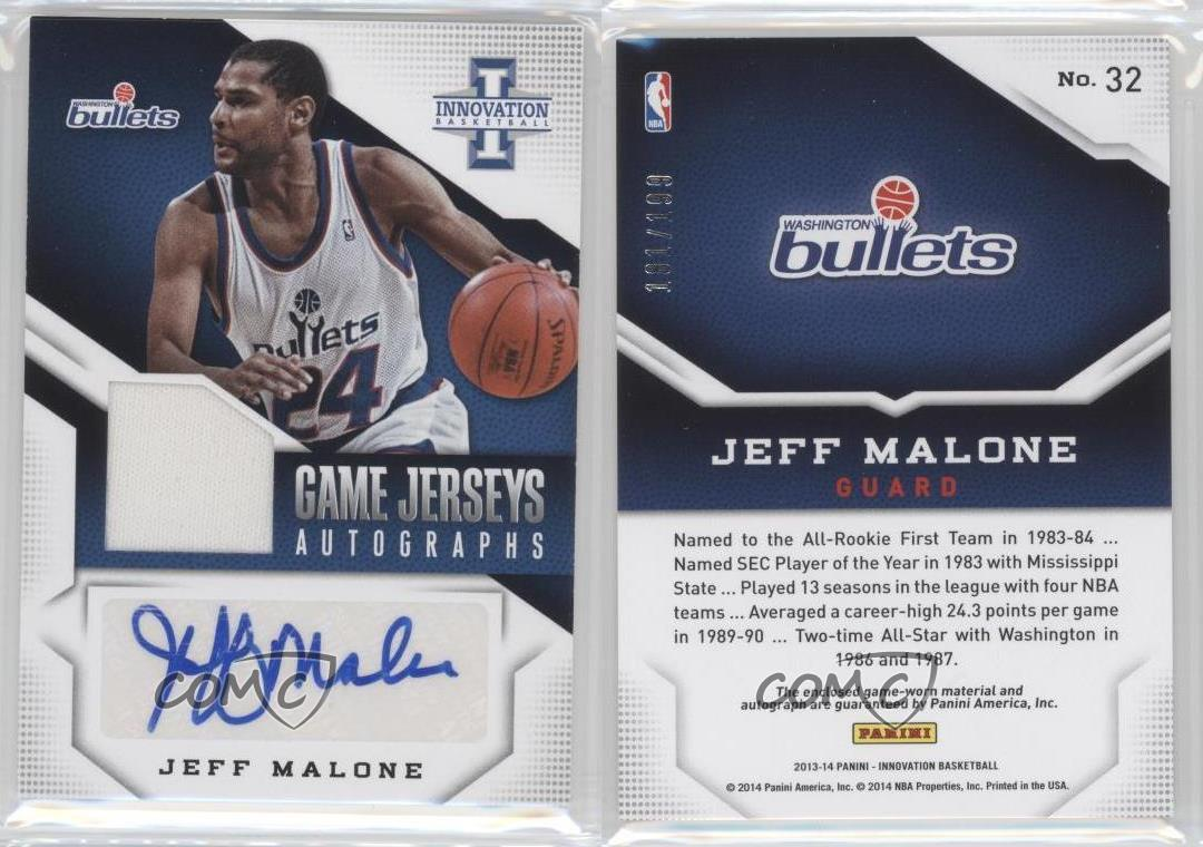 2013 14 Panini Innovation Game Jerseys Autographs 32 Jeff Malone