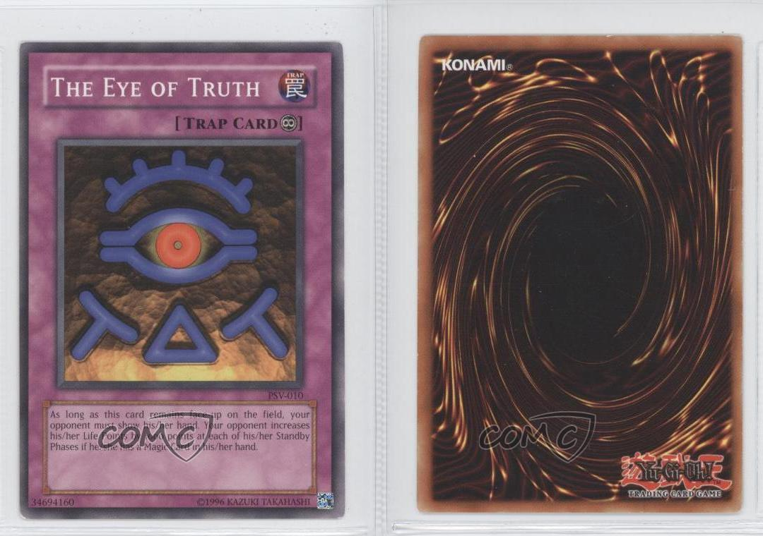 The Eye of Truth PSV-010 or DB1-EN074 Near Mint Common Unlimited Edition YuGiOh!