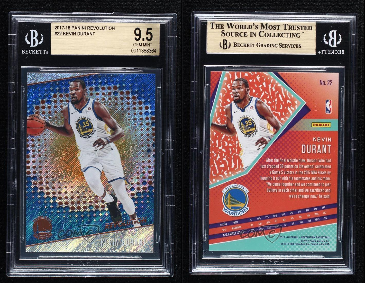 2017-18 Panini Revolution #22 Kevin Durant Warriors Trading Cards ...