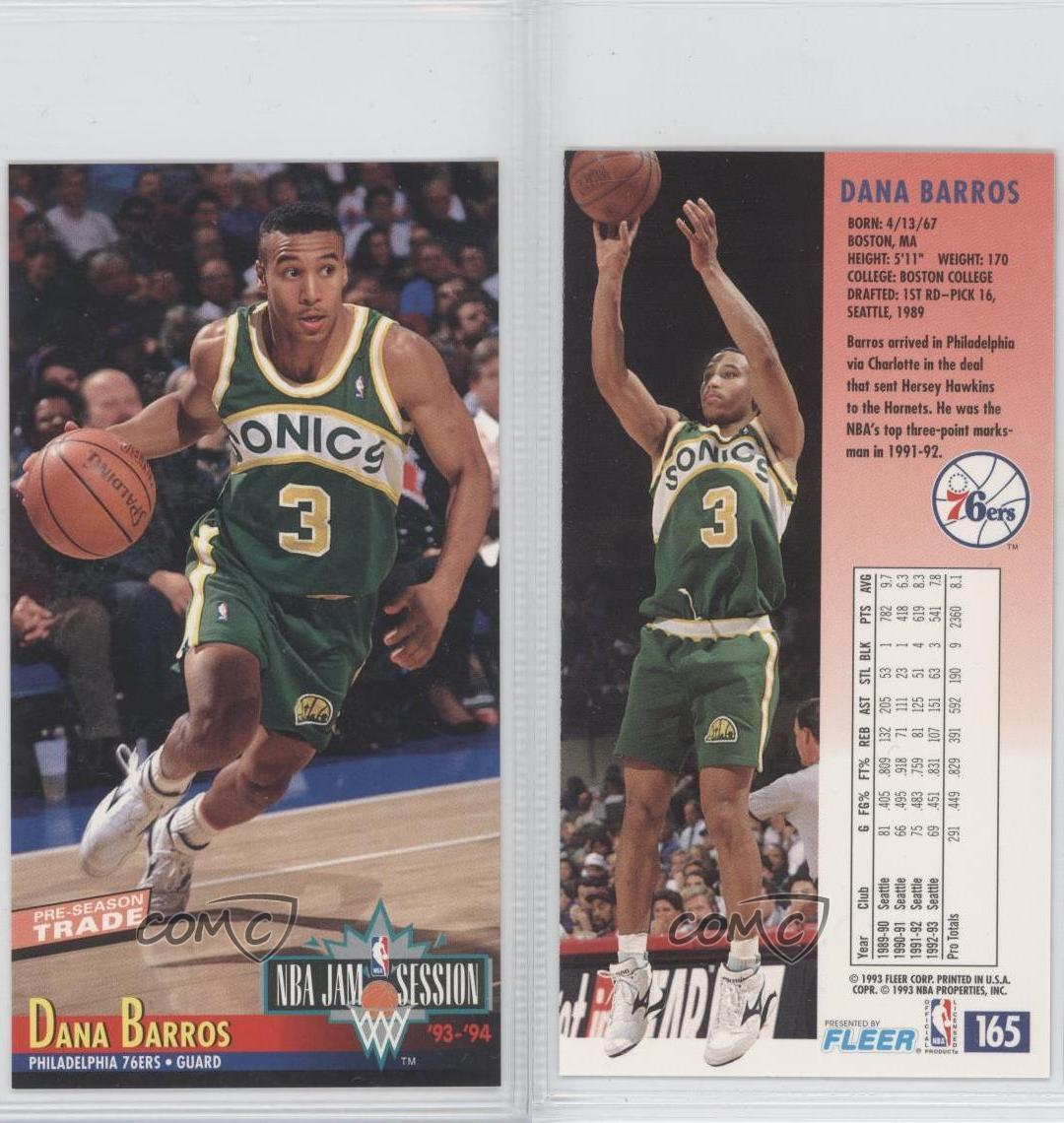 1993 94 NBA Jam Session 165 Dana Barros Seattle Supersonics
