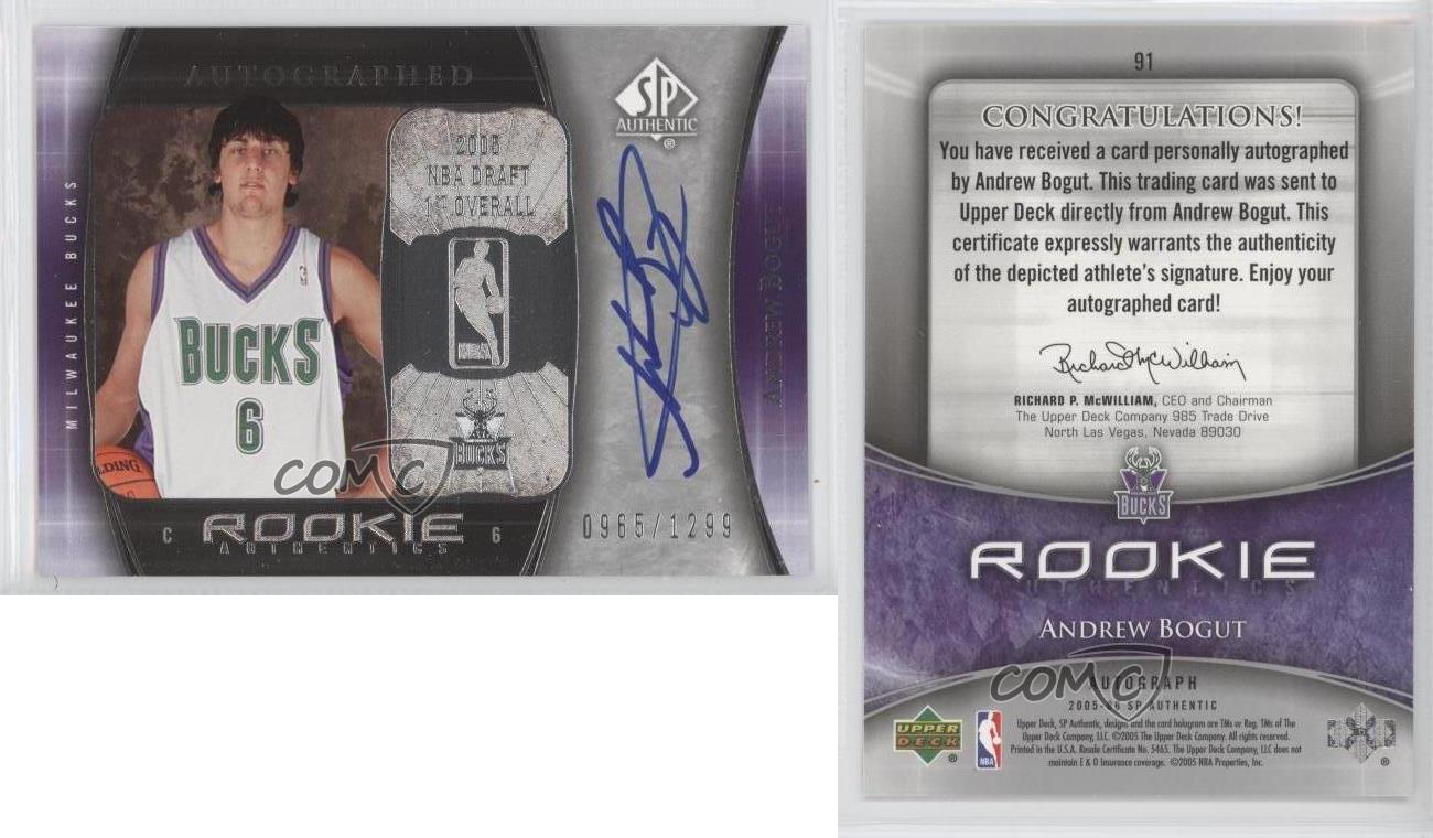 2005-SP-Authentic-91-Andrew-Bogut-Milwaukee-Bucks-Auto-RC-Rookie-Basketball-Card