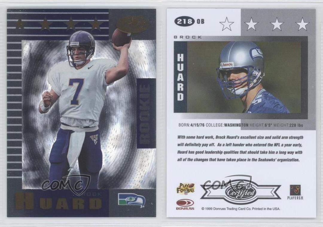 1999-Leaf-Certified-218-Brock-Huard-Seattle-Seahawks-Washington-Huskies-RC-Card
