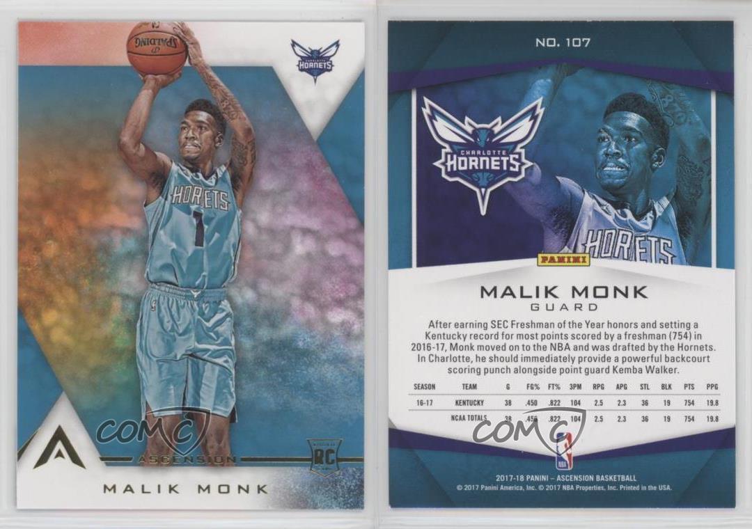 2017-18-Panini-Ascension-107-2-Rookie-Variation-Malik-Monk-Charlotte-Hornets-RC
