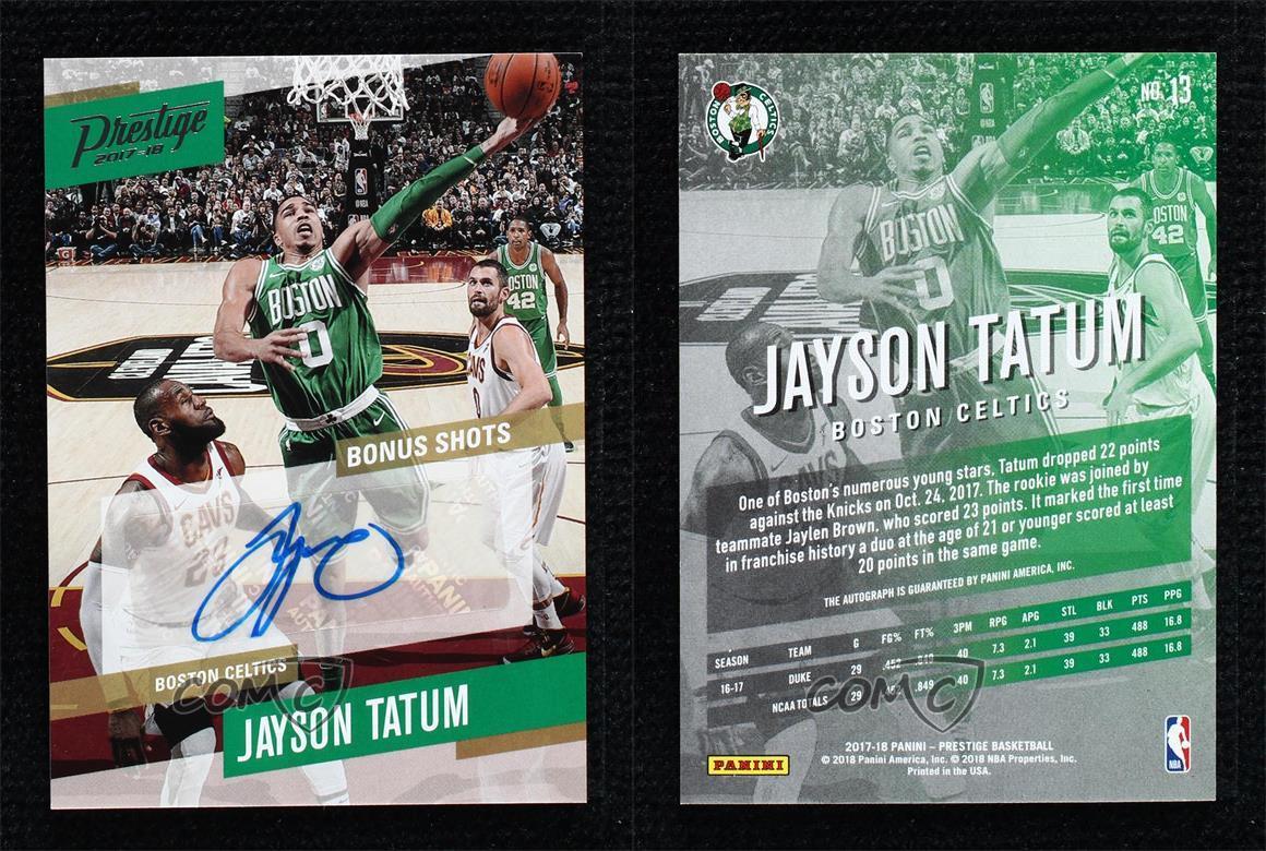 2017-18 Panini Prestige Bonus Shots Signatures Jayson Tatum #13 Rookie Auto  | eBay