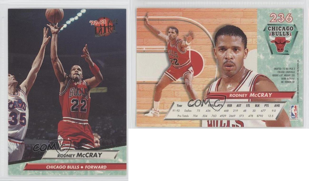 1992 93 Fleer Ultra 236 Rodney McCray Chicago Bulls Basketball