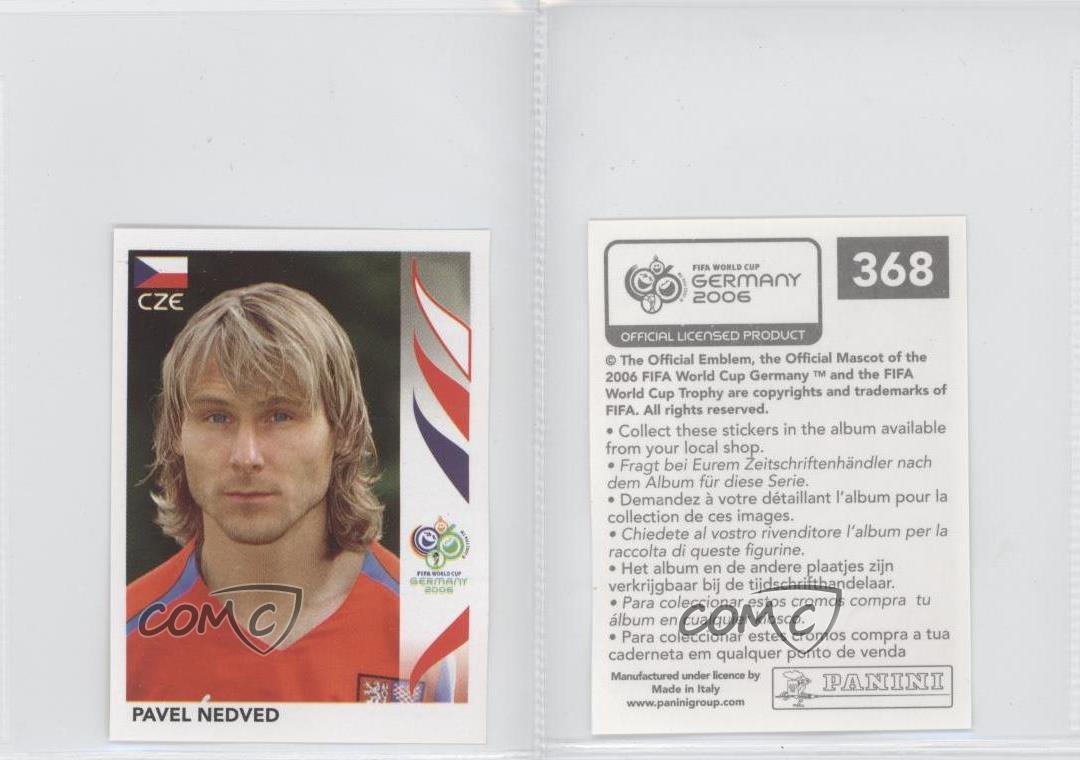 Panini WORLD CUP 2006-Pavel Nedved República Checa Nº 368
