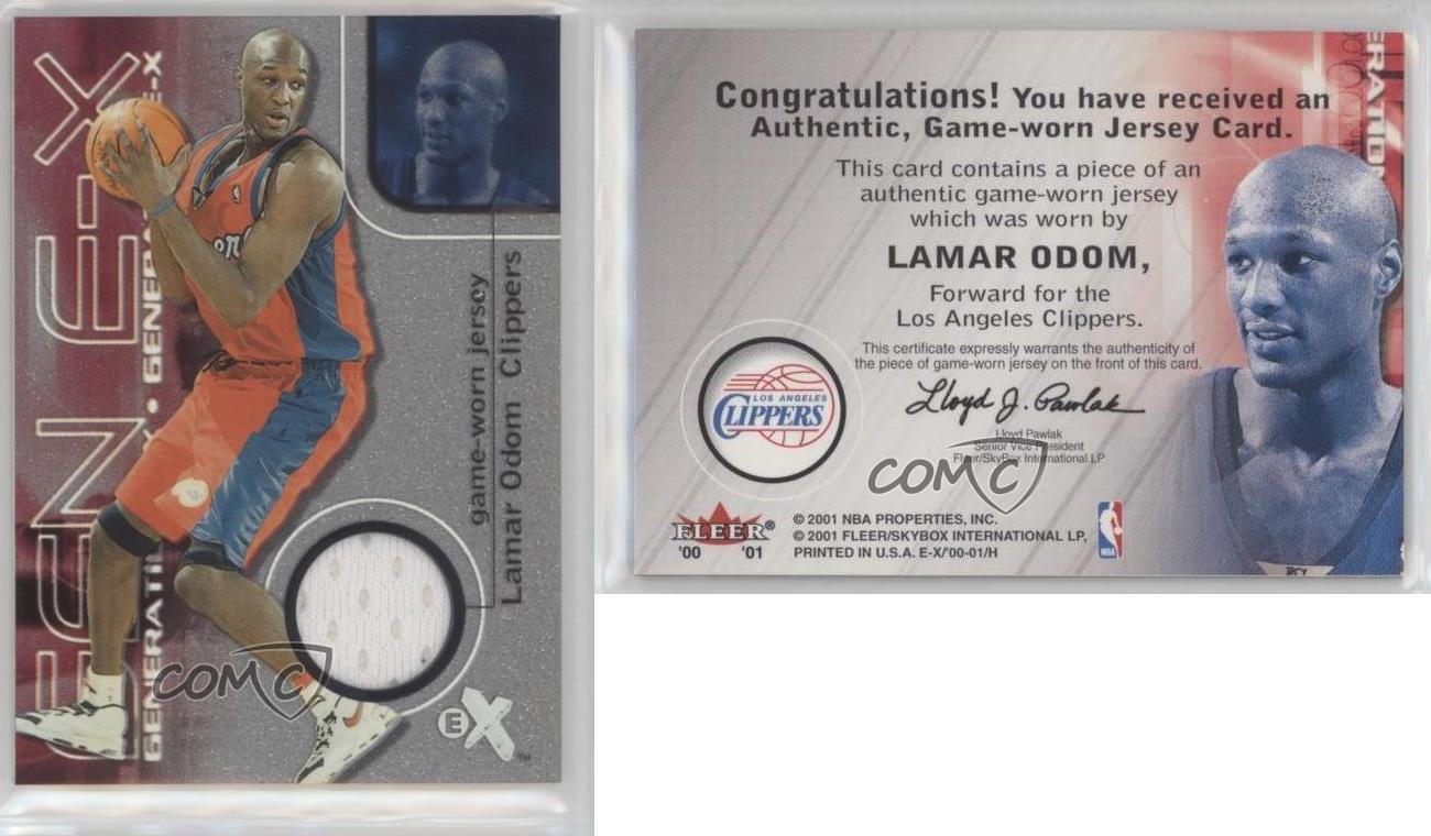 2000-01-EX-Generation-E-X-Jerseys-LAOD-Lamar-Odom-Los-Angeles-Clippers-Card