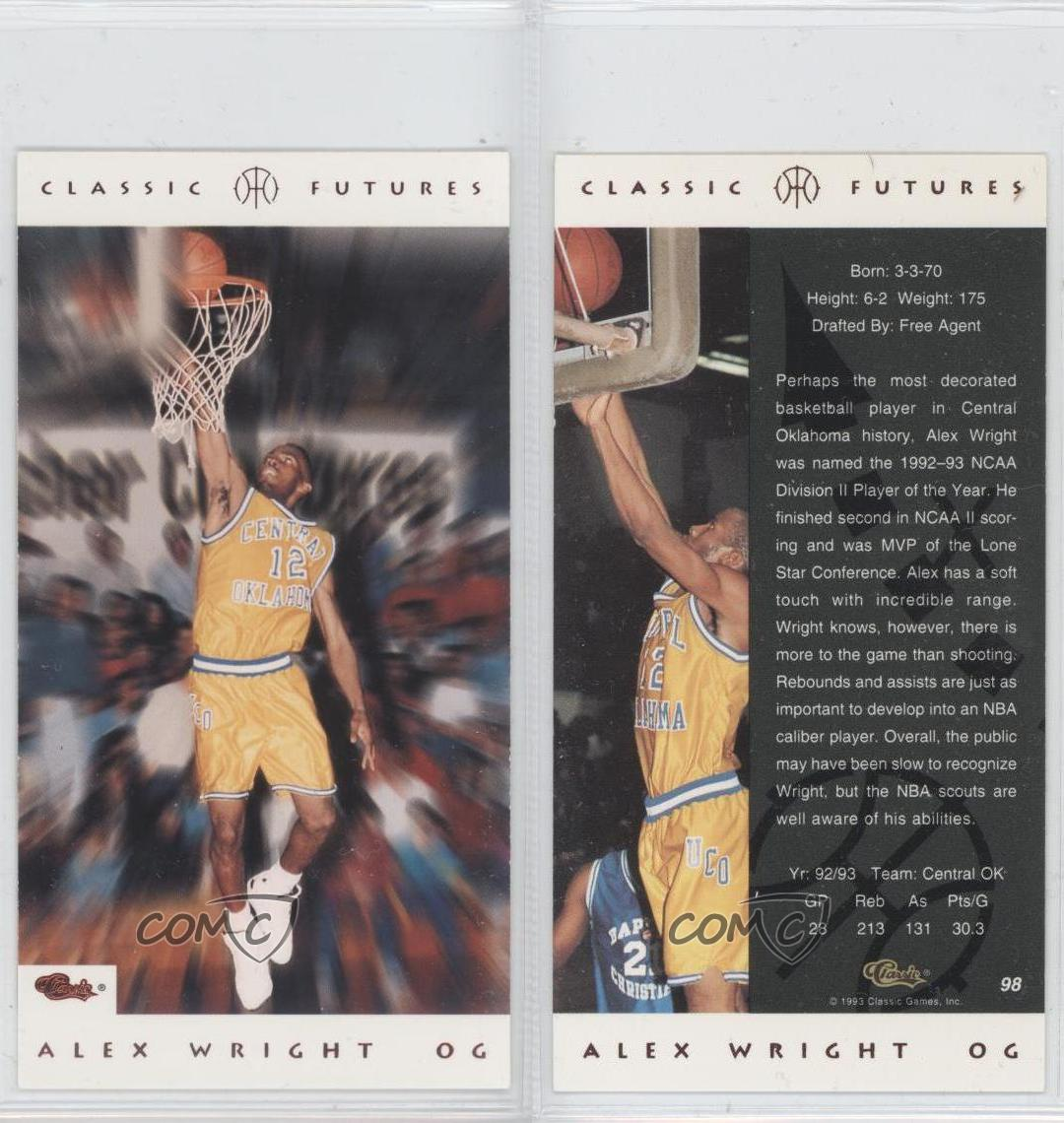 1993-94 Classic Futures #98 Alex Wright Rookie Basketball