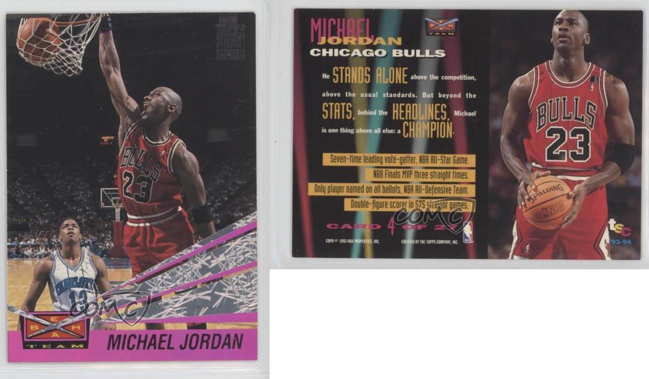 1993-Topps-Stadium-Club-Beam-Team-4-Michael-Jordan-Chicago-Bulls-Basketball-Card