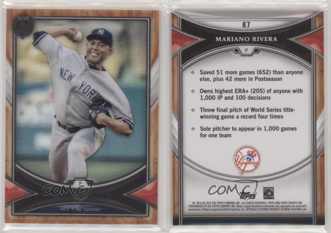Details About 2018 Topps Tribute 87 Mariano Rivera New York Yankees Baseball Card