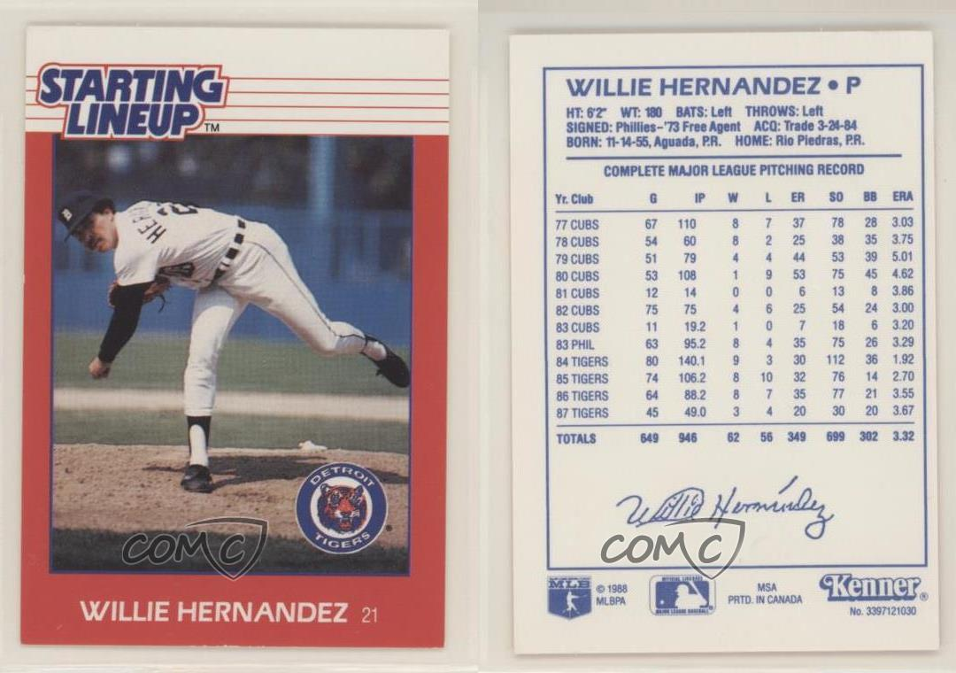 thumbnail 3 - 1988 Starting Lineup Cards Willie Hernandez